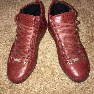 Authentic Balenciaga Arena Leather Sneakers